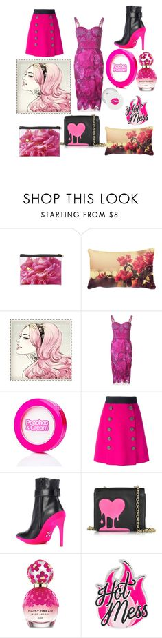 """""""pink punk flowers"""" by kylliemelody ❤ liked on Polyvore featuring Notte by Marchesa, Dolce&Gabbana, Off-White, Love Moschino and Marc Jacobs"""