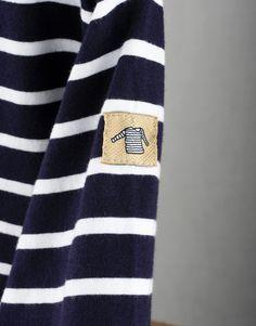 Armor Lux Kids Breton Stripe T-Shirt - Navy/White | Finistère Bretagne
