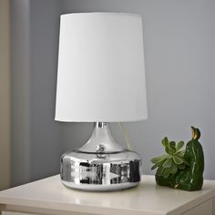 West Elm Perch Table Lamp - Mercury also in yellow