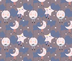 mymoon fabric by patternjuice on Spoonflower - custom fabric