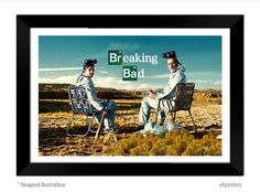 poster breaking bad - R$55,00 - moldura preta ou branca
