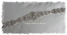 Rhinestone Crystal Pearl Bridal Sash Wedding by DebbyHoffmanBridal, $188.00
