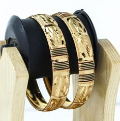 Indian Bollywood Bangles/ Bracelets18 carat Gold plated Party wear Size 2.8