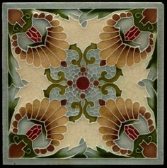 Art Nouveau tile, Minton China Works. [need to play with doing a digital version of this!]