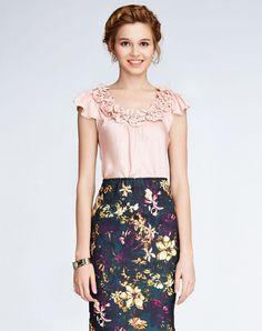 VIPme (VIPSHOP Global) - BORARDES Pink T-Shirts - AdoreWe.com