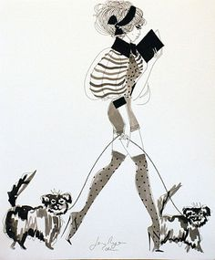 Jane Ryan 'Polka Dots and Dogs' Street Gallery, Ink Pen Drawings, Vogue Australia, Matthew Williamson, Textile Design, Knitwear, Polka Dots, Book, Illustration