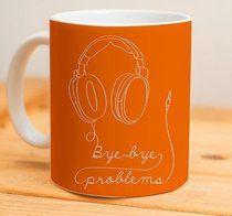 Bye Bye Problem.  #mug #caneca #canecas #music #musica #presente #presentes #presentebarato #gift