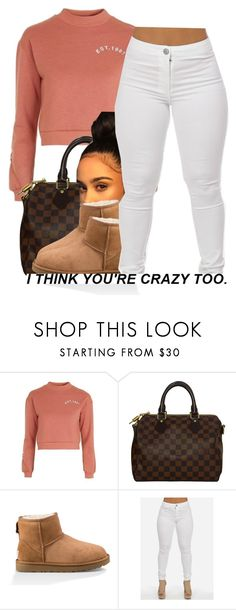 """""""kisses*"""" by trinityannetrinity ❤ liked on Polyvore featuring Topshop, Louis Vuitton and UGG"""