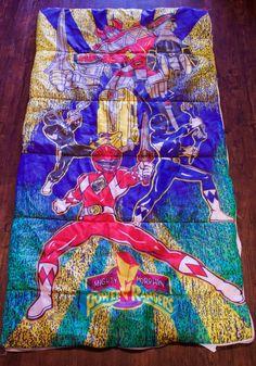 1994 Mighty Morphin Power Rangers Sleeping Bag Retro SABAN Boys & Girls