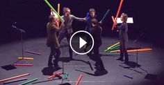 A group from France known as 'Les Objets Volants' performs an incredibly…