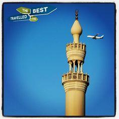 #Dubai #United #Arab #Emirates #plane #flights #sky #view #mosque #Islam #Middle #East #travel #explore #visit