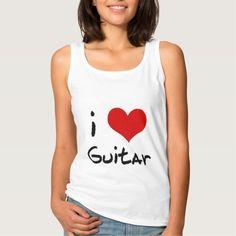 I Heart Guitar Tank Top Tank Tops