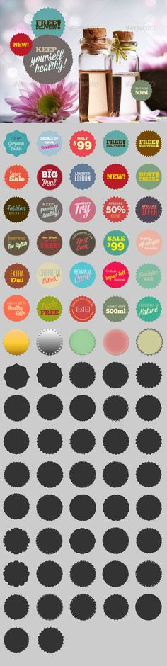 77 Cool Badge Photoshop Custom Shapes & Brushes  • Only available here ➝ http://graphicriver.net/item/77-badge-custom-shapes-brushes/4319920?ref=pxcr