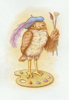 'Owl Artist' by Phyllis Peacock