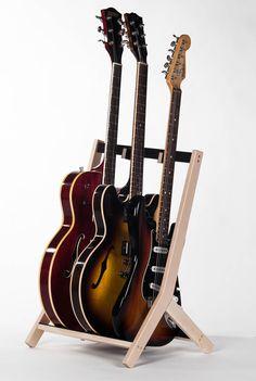 wooden guitar stand, wooden instrument stand, multi guitar stand, birch
