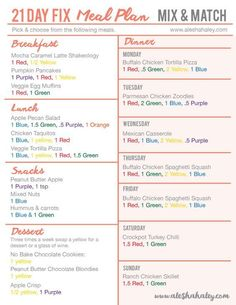 Free 21 day fix meal plan // Alesha Haley Blog #21dayfix #mealplan