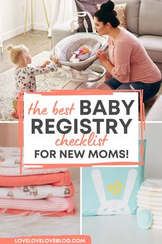 Here's my first time mom baby registry checklist with everything you need and nothing you don't. And to make registering easy, I made a free checklist printable for you to download inside! It's complete with all of the must haves items you'll need for your first, second, or even third baby. This is the ULTIMATE baby registry checklist for 2021! #babyregistry #babyregistrymusthaves #newmom #baby #printable #checklist