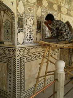 Indian Palace restoration. Jaipur