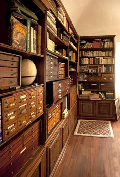 Home library design - 60 awesome ideas vintage library – Home library design