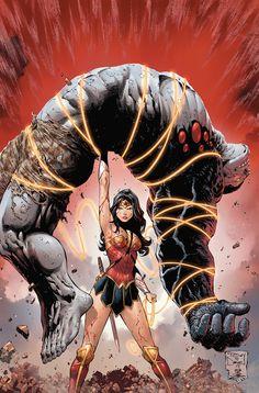 Wonder Woman vs. Damage by Tony S. Daniel