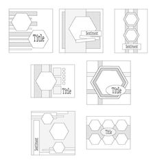 Sketch Digest 981-987. A selection of downloadable layout ideas for your handmade cards and scrapbook layouts.