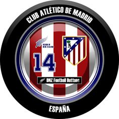 DNZ Football Buttons: Atlético de Madrid