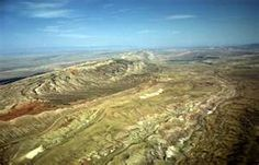 Basin, WY. View to northwest. See Lovell-Greybull Area, Big Horn ...