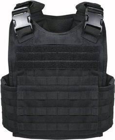 Amazon.com: Black Military MOLLE Tactical Plate Carrier Assault Vest: Sports & Outdoors