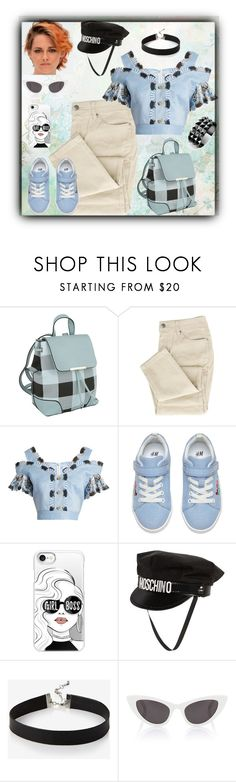 """Samantha_1672"" by samanthaos ❤ liked on Polyvore featuring MKF Collection, Peter Pilotto, Casetify, Moschino, Express, Yves Saint Laurent and Waterford"