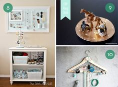 @Carissa Hobbs These are some really cute DIY jewelry storage ideas.  #craftnigthwithris