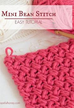 How To: Crochet The Mini Bean Stitch - Easy Tutorial by angelina