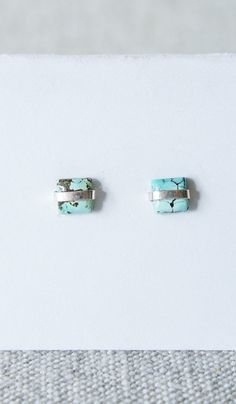 Better Late Than Never Turquoise Cabochon Studs
