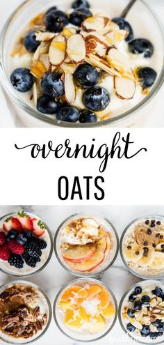 Oats ways!) Healthy Overnight Oats made 6 different ways! Simple, customizable and the perfect grab and go breakfast.Healthy Overnight Oats made 6 different ways! Simple, customizable and the perfect grab and go breakfast. Breakfast Appetizers, Breakfast Desayunos, Grab And Go Breakfast, Healthy Breakfast Recipes, Healthy Drinks, Healthy Snacks, Breakfast Ideas, Overnight Breakfast, Healthy Overnight Oats