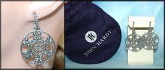 John Hardy ~  Kawung Flower Dandling Sterling Silver Pierced Earrings #JohnHardy #DropDangle