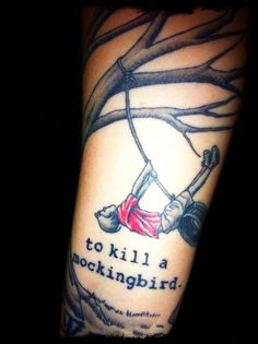 Inspired by To Kill a Mockingbird, written by Harper Lee. Today is Harper Lee's birthday! #literarytattoos