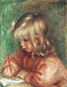 Pierre-Auguste Renoir - Child Drawing