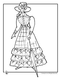 9 Pics of Victorian Doll Coloring Page - Victorian Fashion ...