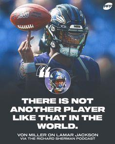 """PFF BAL Ravens on Twitter: """"Lamar Jackson is UNIQUE 🔥… """" Richard Sherman, Lamar Jackson, Sports Images, Ravens, Location History, Shit Happens, Twitter, Unique, Movie Posters"""