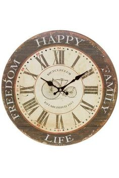 Ceas de Perete London Bicycle 34x34 cm Clock, Home Decor, Watch, Decoration Home, Room Decor, Clocks, Home Interior Design, Home Decoration, Interior Design