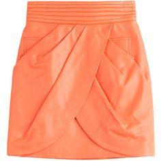 Balmain Leather Skirt
