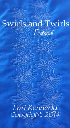 @ckilfoil  This is just one of Lori Kennedy's DOZENS of beautiful FMQ designs and they all have tutorials!