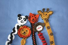 Zoo Animals Soother Clip PATTERNS by 5SnowflakesDesigns on Etsy