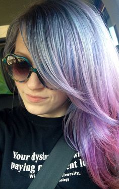 Purple Pastel Hair✶ #Hairstyle #Colorful_Hair #Dyed_Hair
