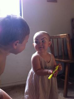 Draw eyebrows on your children today and have lots of laughs for many tomorrows