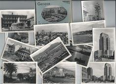 Antique 20 Black and White  Souvenir Photos Genova Italy Travel