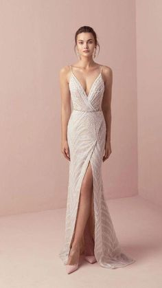 Tali & Marianna 2018 Wedding Dresses – The One Bridal Collection dress # … dress The post Romantic wedding dress idea – deep wedding dress with V back, lace details and appeared first on Woman Casual - Wedding Gown Dream Wedding Dresses, Bridal Dresses, Bridesmaid Dresses, Prom Dresses, Formal Dresses, Wedding Dress Sheath, Embelished Wedding Dress, Versace Wedding Dress, Wedding Ideas