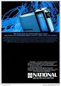 Original-Werbung/ Anzeige 1969 - NATIONAL FERNSEHER - ca. 180 x 240 mm