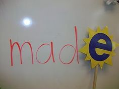 """The Magic E wand: You can use it to  """"pop up"""" and change cVc words into cVcE words"""