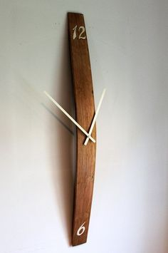 Barrel stave wall clock, with hand painted numbers £45.99