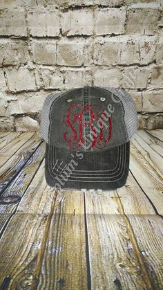 b4db05f5ac3 Personalized Trucker Hat vinyl monogram by SugarplumsCrafts Monogram Hats